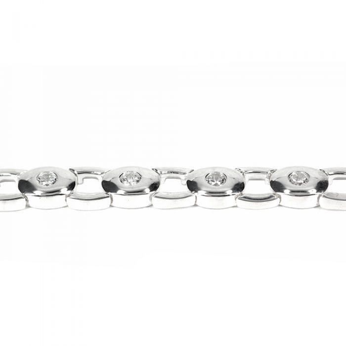 Cubic Zirconia Oval Bracelet