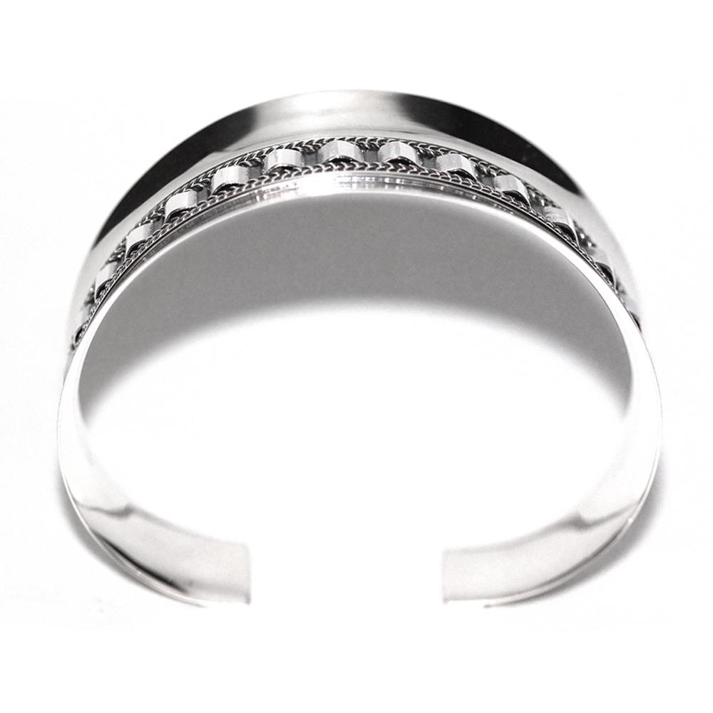 Corrugated Silver Cuff