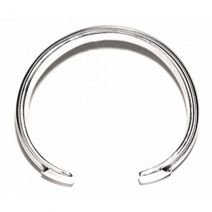 Platted Rope Silver Cuff