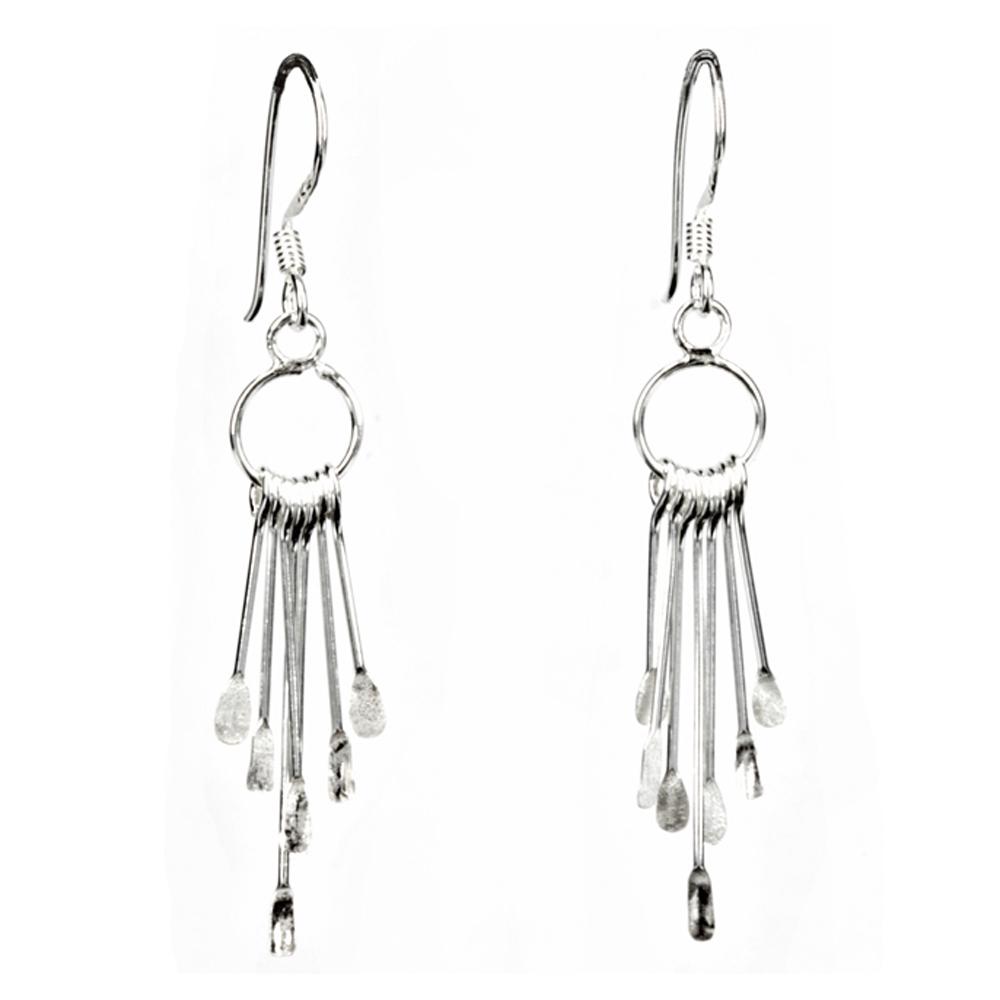 Silver Tipped Wire Earrings