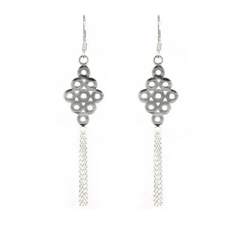 Circle & Chain Earrings
