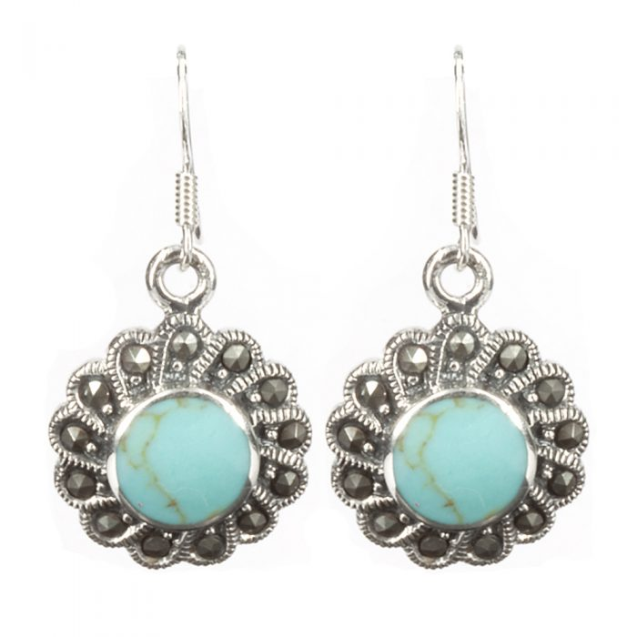 Turquoise & Silver Earrings