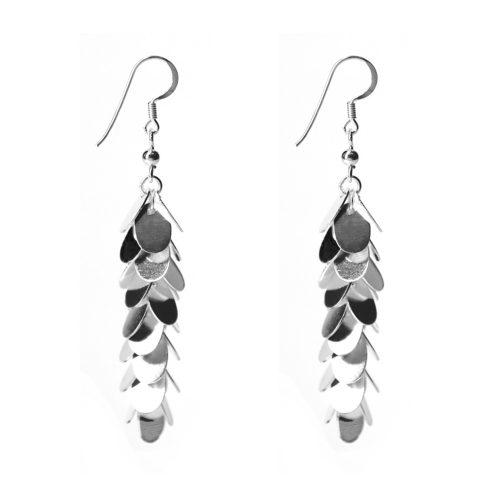 Silver Petal Earrings