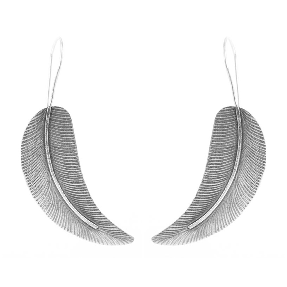 Silver Leaf Earrings