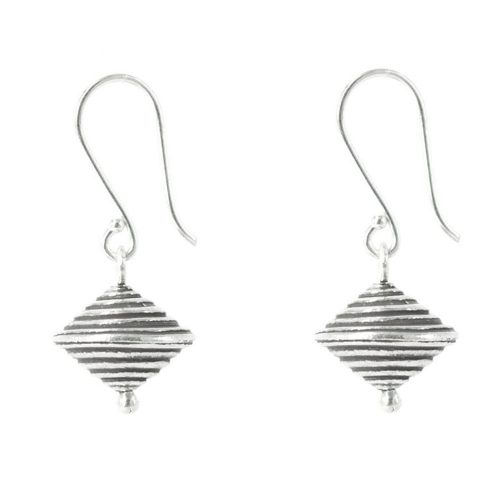 Silver Saturn Earrings