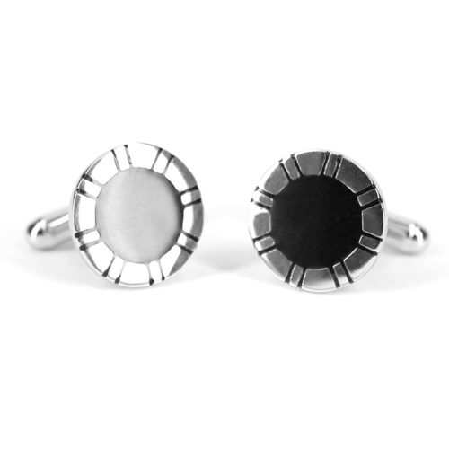 onyx stripped cufflinks