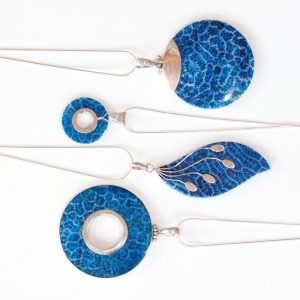 Blue Coral Pendants