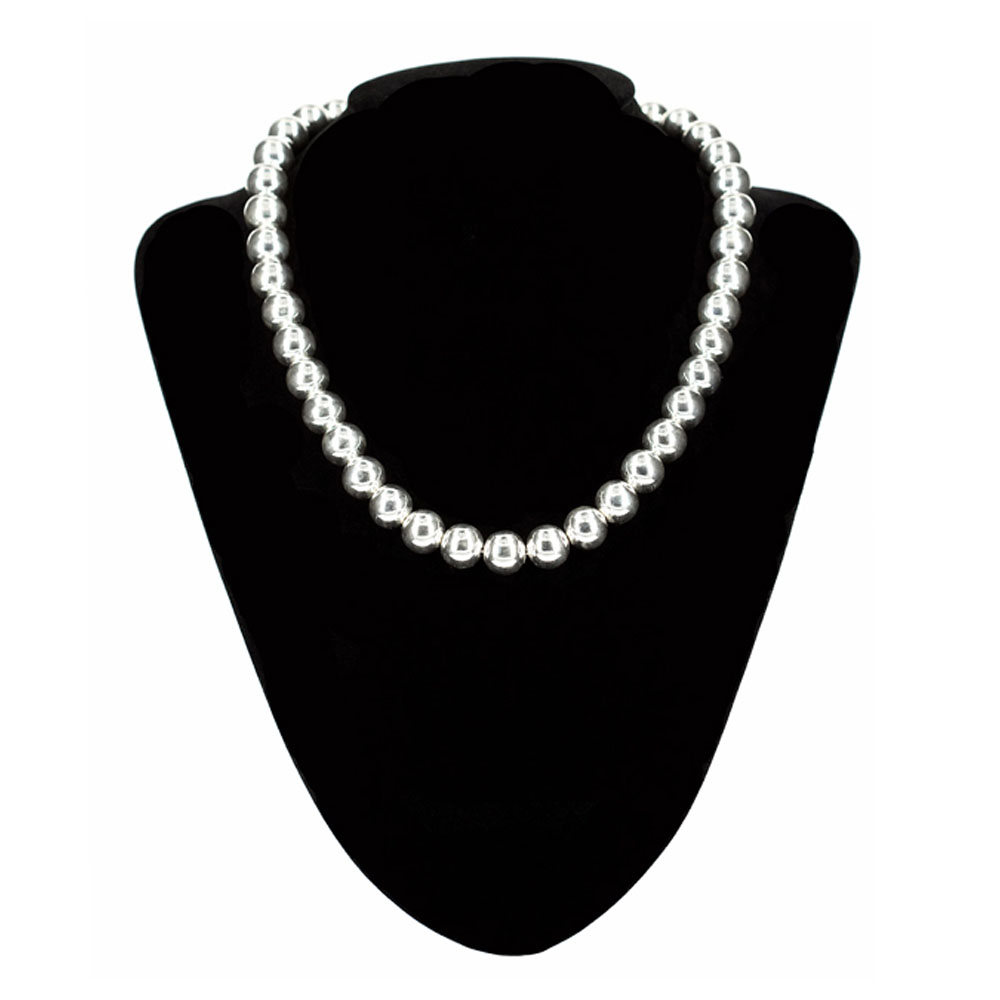 Silver Ball Necklace