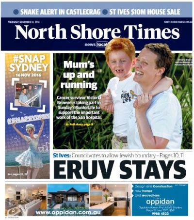 North Shore Times. Front Page
