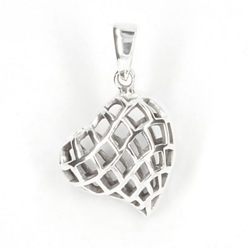 Asymmetrical Silver Heart Pendant