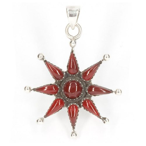 Red Coral Star Pendant