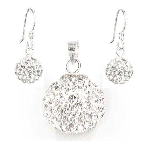 Cubic Zirconia Pendant & Earrings